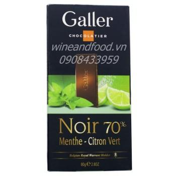 Socola bạc hà chanh Galler 80g