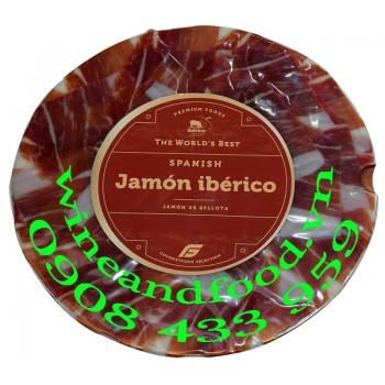 Thịt đùi heo Iberico Jamón de Bellota cắt lát 100g