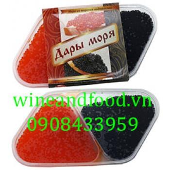 Trứng cá Caviar đỏ đen Krasnodar 200g