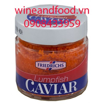 Trứng cá Caviar đỏ Friedrichs 100g
