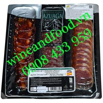 Xúc xích thịt heo Iberico Mix 3 Azuaga