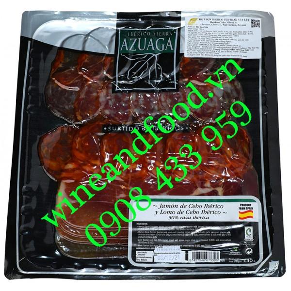 Xúc xích thịt heo Iberico Mix 4 Azuaga