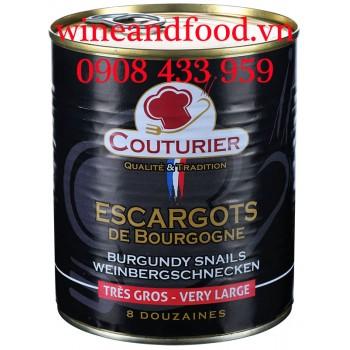 Ốc Sên Pháp Escargots de Bourgogne Couturier size lớn hộp 800g