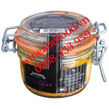 Pate gan Ngỗng Foie Gras Canard Entier La Maison hũ thủy tinh 120g