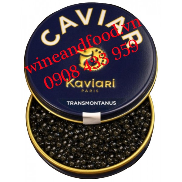Trứng cá tầm Caviar Caviari Transmontanus 50g