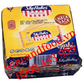 Bánh quy Sky Flakes Snack Pack vị tỏi M.Y.San không đường 250g