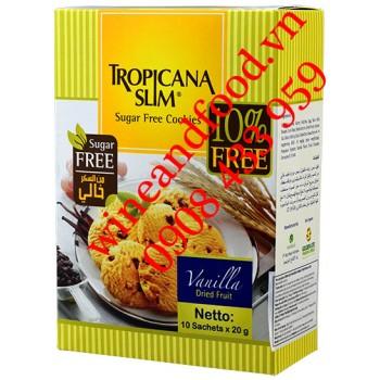Bánh quy Tropicana Slim không đường Vanilla 10 gói x 20g