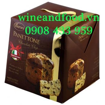 Bánh cake Giáng Sinh Panetton Baroni socola 900g