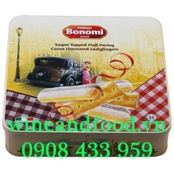 Bánh Champagne socola sugar Topped Puff Ladyfingers Forno Bonomi 400g