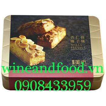 Bánh Mille Feuille Hạnh Nhân Meixin Kongkong hộp thiếc 178g