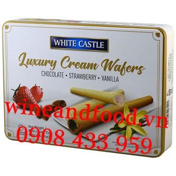Bánh ống quế White Castle hộp thiếc 450g