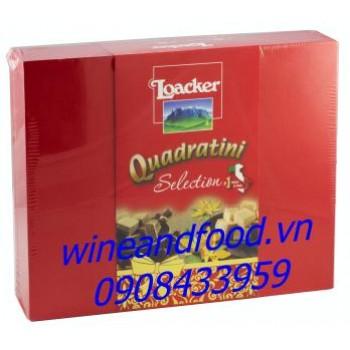 Bánh xốp Loacker Quadratini Selection 280g