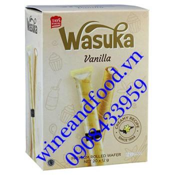 Bánh ống quế Wasuka Vanilla 240g