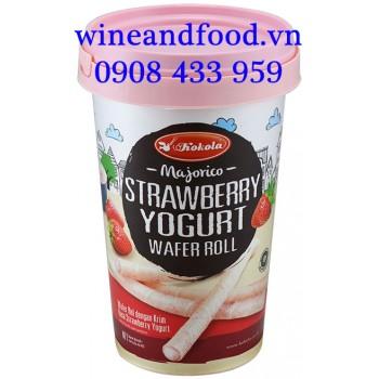 Bánh quế dâu yogurt Kokola hộp 120g