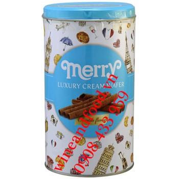 Bánh quế kem socola Merry Santa 208g