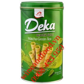 Bánh quế Matcha Green Tea Deka hộp 300g