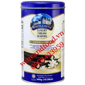 Bánh quế nhân kem Cookies Cream White Castle 300g