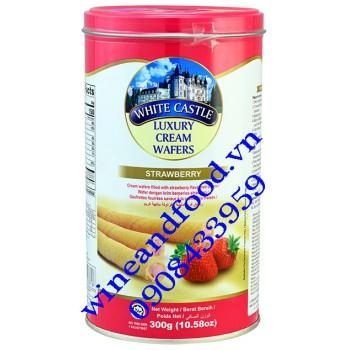 Bánh quế nhân kem Dâu White Castle 300g