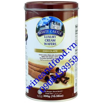 Bánh quế nhân kem socola White Castle 300g