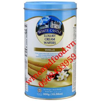 Bánh quế nhân kem vani White Castle 300g
