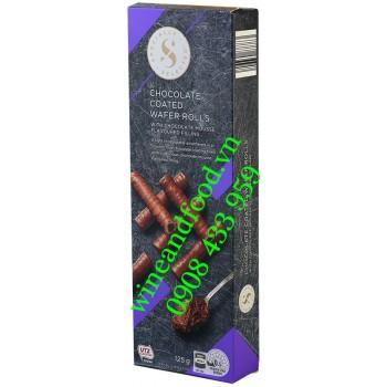 Bánh quế nhân socola phủ socola Specially Selected 125g