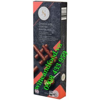 Bánh quế nhân Tiramisu phủ socola Specially Selected 125g