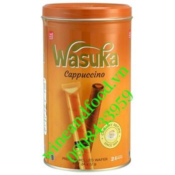 Bánh quế Wasuka Cappuccino hộp 24 gói