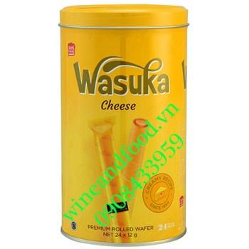 Bánh quế Wasuka phô mai hộp 24 gói