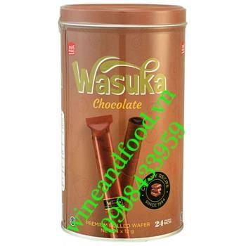 Bánh quế Wasuka socola hộp 24 gói