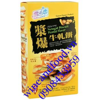 Bánh biscuit nougat đậu phộng Yuki & Love 112g