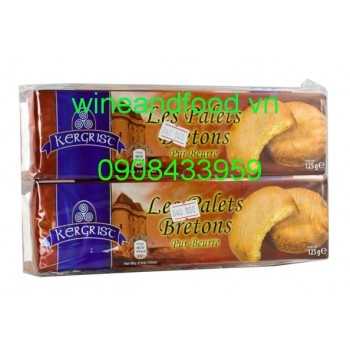 Bánh quy bơ Les Palets Bretons Kergrist 125g