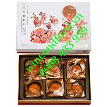 Bánh Trung Thu Hongkong MX Custard Twins hộp 6 bánh