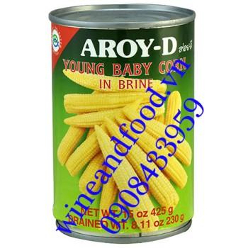 Bắp non đóng hộp Aroy D 425g