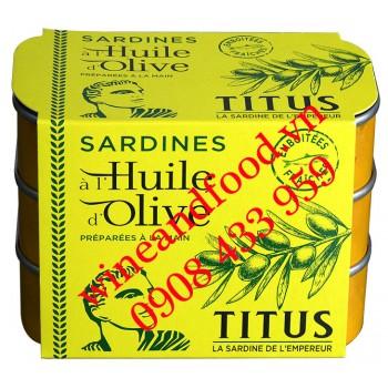 Cá mòi ngâm dầu Oliu Titus lốc 3