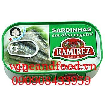 Cá mòi ngâm dầu Ramirez 125g