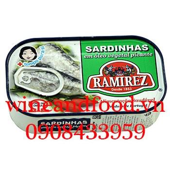 Cá mòi ngâm dầu vị cay Ramirez 125g