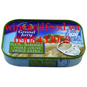 Cá Mòi phi lê ngâm dầu Oliu Grand Jury 100g