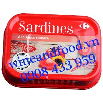 Cá Mòi Sardines sốt cà chua Carrefour 135g
