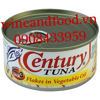 Cá Ngừ nguyên miếng ngâm dầu Century Tuna 180g