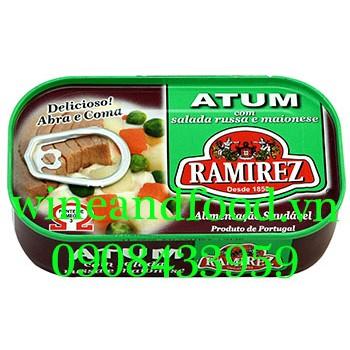 Cá ngừ trộn rau củ mayonnaise Ramirez 120g