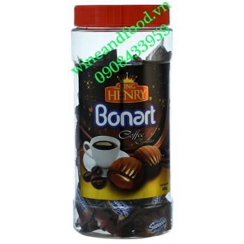 Kẹo cà phê Bonart King Henry hũ 450g
