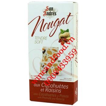 Kẹo Nougat Đậu Phộng Nho khô San Andres 150g