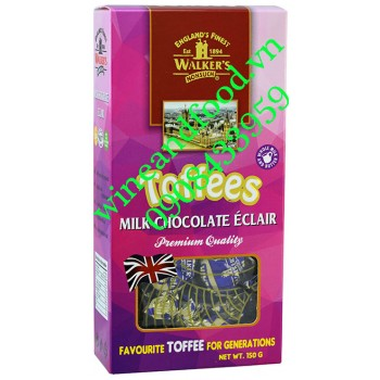 Kẹo Walker's milk chocolate Eclair Toffees hộp 150g