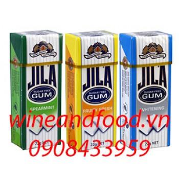 Kẹo cao su không đường Jila các loại 22g