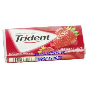 Kẹo chewing gum không đường Trident dâu 18 thanh