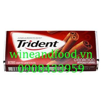 Kẹo chewing gum không đường Trident quế 18 thanh
