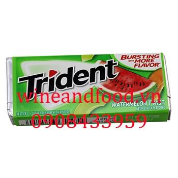 Kẹo chewing gum Trident dưa hấu không đường 18 thanh