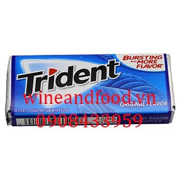 Kẹo chewing gum Trident Original không đường 18 thanh