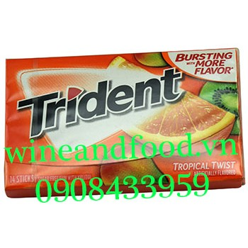Kẹo gum Trident Tropical Twist 14 thanh