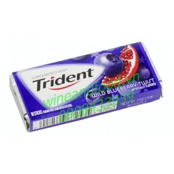 Kẹo gum Trident việt quất lựu 18 thanh